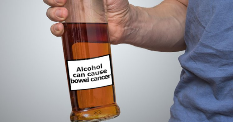 alkohol warning label-rak črevesja